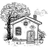Vector country house Stock Photography