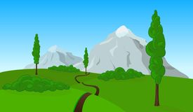 Vector countryside landscape Stock Photography