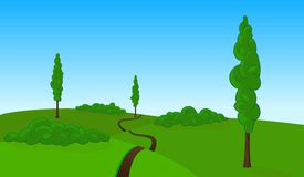 Vector countryside landscape Royalty Free Stock Image