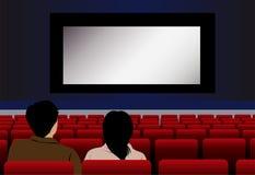 Vector couple in cinema stock photo