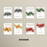 Vector cover book with colorful abstract spots Stock Image