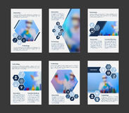Vector cover business brochure Scientists in lab concept in A4 layout. Royalty Free Stock Photos