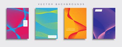 Vector cover designs. Future Poster template. Smartphone modern background set. Minimal Vector cover designs stock illustration