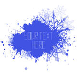 Vector cover with spray, snowflakes and place for text Stock Image