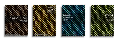Vector covers collection, design templates. Vector covers collection, business covers vector set. Bright covers illustration isolated over white background Royalty Free Stock Photos