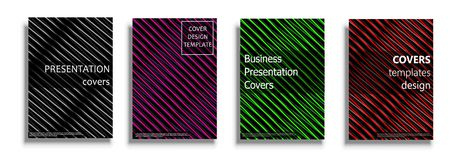 Vector covers collection, design templates. Vector covers collection, business covers vector set. Bright covers illustration isolated over white background Stock Photo