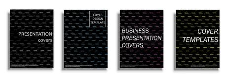 Vector covers collection, design templates. Vector covers collection, business covers vector set. Bright covers illustration isolated over white background Royalty Free Stock Images