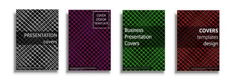 Vector covers collection, design templates. Vector covers collection, business covers vector set. Bright covers illustration isolated over white background Stock Photos