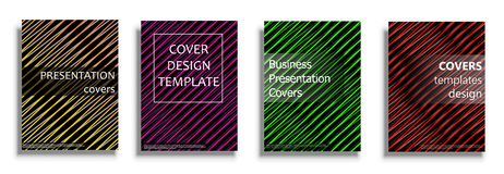 Vector covers collection, design templates. Vector covers collection, business covers vector set. Bright covers illustration isolated over white background Stock Image