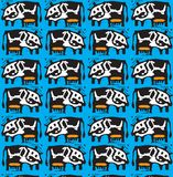 Vector cow pattern Stock Photos