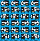 Vector cow pattern Stock Photos