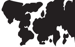 Vector cow skin pattern Stock Photography