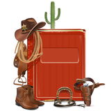 Vector Cowboy Book Royalty Free Stock Photos