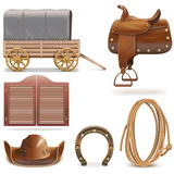 Vector Cowboy Icons Set 2 Stock Photography