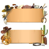 Vector Cowboy Scrolls Stock Photography
