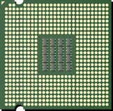 Vector CPU chip Royalty Free Stock Image
