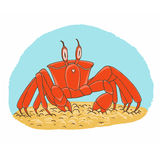 Vector crab Royalty Free Stock Photo
