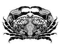 Vector crab drawing.Cancer zodiac sign Royalty Free Stock Photo