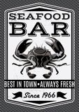 Vector crab for restaurant menu. Banner with Vector crab for restaurant menu Stock Image