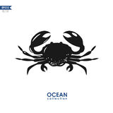Vector crab silhouette Stock Photos