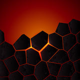 Vector cracked ground and lava. Royalty Free Stock Photography