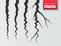 Vector cracks . Illustration for your design Royalty Free Stock Photos