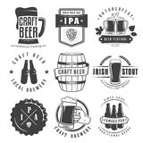 Vector craft beer badges and logos Royalty Free Stock Photo