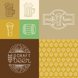 Vector craft beer and brewery logos and design elements Stock Photography