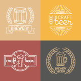 Vector craft beer and brewery logos Royalty Free Stock Photos