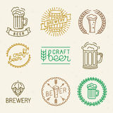 Vector craft beer and brewery logos Stock Photos
