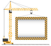 Vector crane Royalty Free Stock Photo