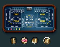 Vector craps table layout (big) vector illustration