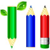 Vector crayons Royalty Free Stock Photos