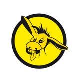 Vector crazy donkey. Donkey  caricature on the white background Royalty Free Stock Photography