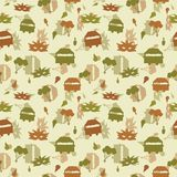 Vector Cream Carnival Seamless Repeat Pattern. royalty free illustration