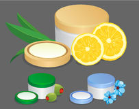 Vector cream containers Stock Photos
