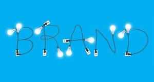 Vector creatief de gloeilampenidee van het merkconcept Royalty-vrije Stock Foto's