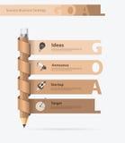 Vector creatief potloodontwerp met doelstellingen ideeënconcept Stock Afbeeldingen