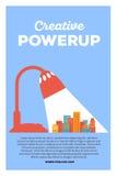Vector creatieve kleurrijke illustratie van moderne heldere grote stad Stock Afbeelding