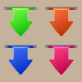 Vector creative arrow stickers set. Best choice. Royalty Free Stock Photography