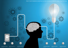Vector Creative brainstorm concept business idea, innovation and solution, creative design flat design Stock Images