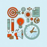 Vector creative buisness and start up icons Stock Images