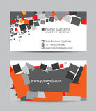Vector creative business cards Stock Photography