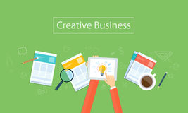 Vector creative business idea background. Creative business  work report  on device technology Royalty Free Stock Images