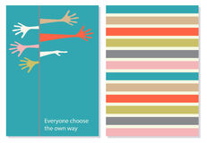 Vector creative card with motivation phrase. Stock Photos