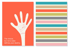 Vector creative card with motivation quote. Fate. Royalty Free Stock Photo