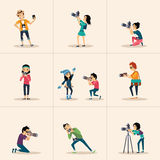 Vector creative character design  posing while Royalty Free Stock Photography