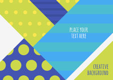 Vector creative color blocking background. Multicolor abstract g Stock Photos