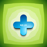 Vector creative color clean cross sign Royalty Free Stock Images