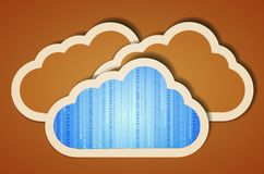 Vector creative computer cloud Royalty Free Stock Image